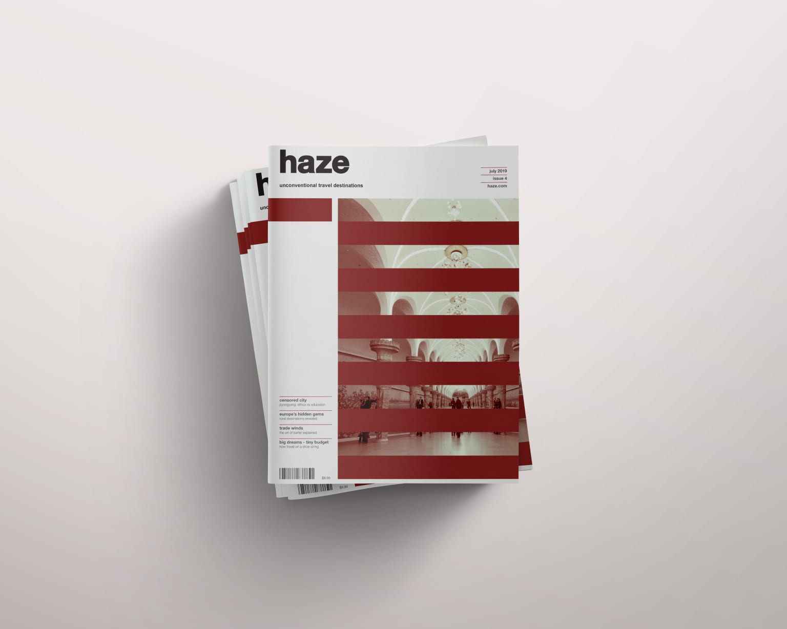 Haze Magazine Cover and 2-Page Spread