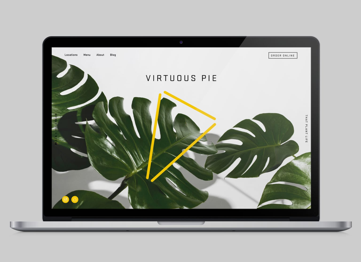 Website and Signage – Virtuous Pie