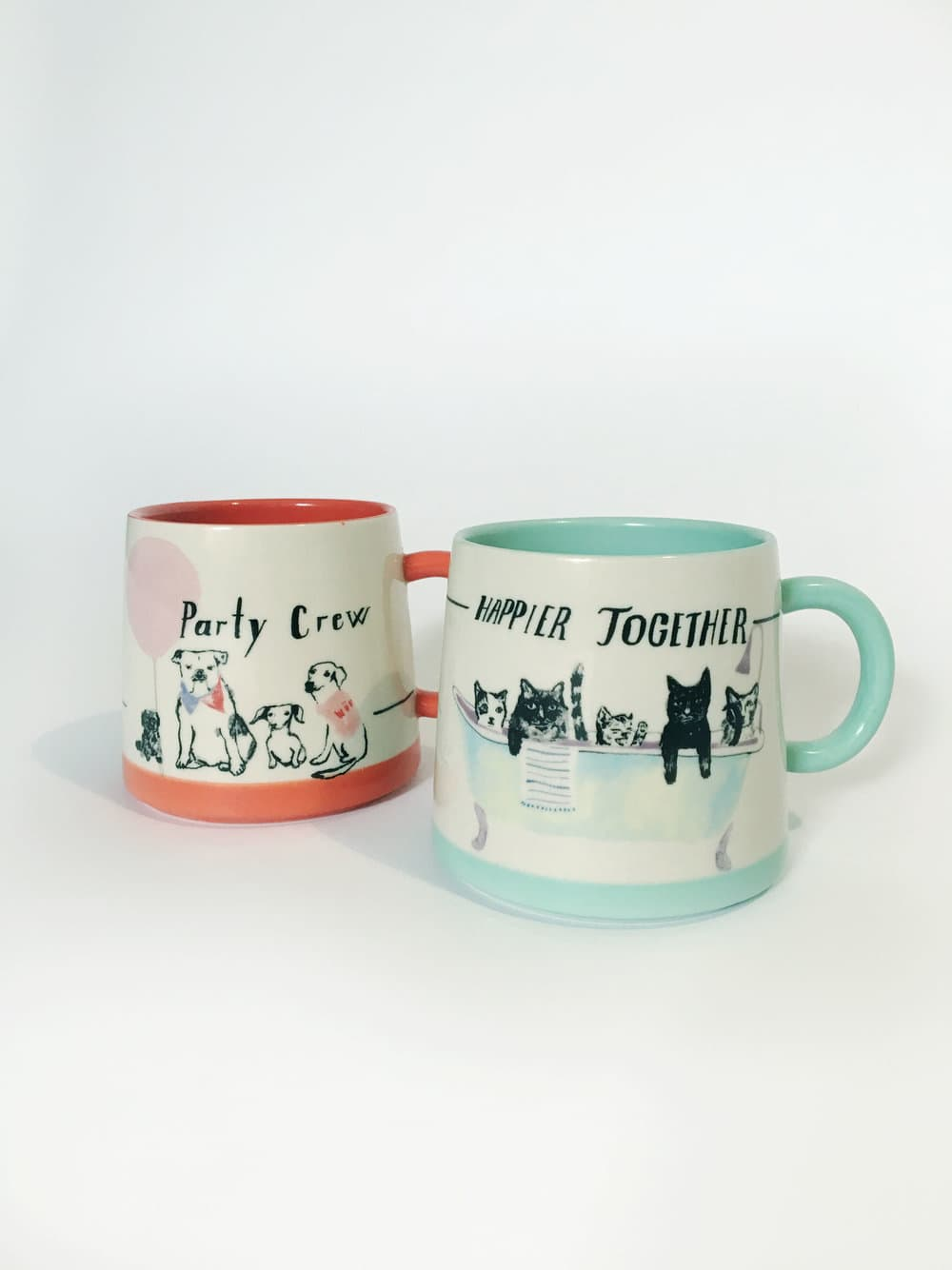 ANTHROPOLOGIE WOOF & WHIMSY MUGS