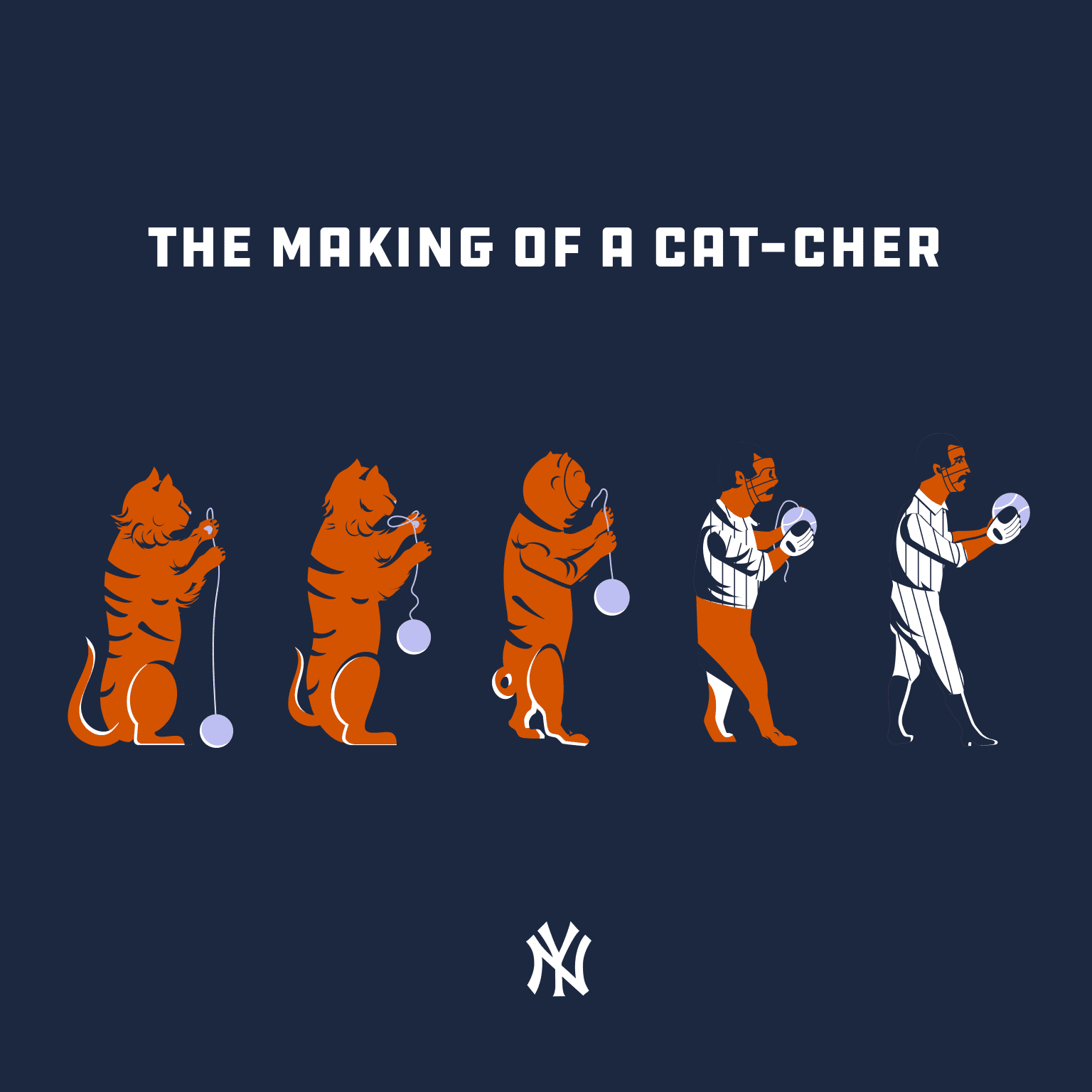 Design for NY Yankees for International Cat Day