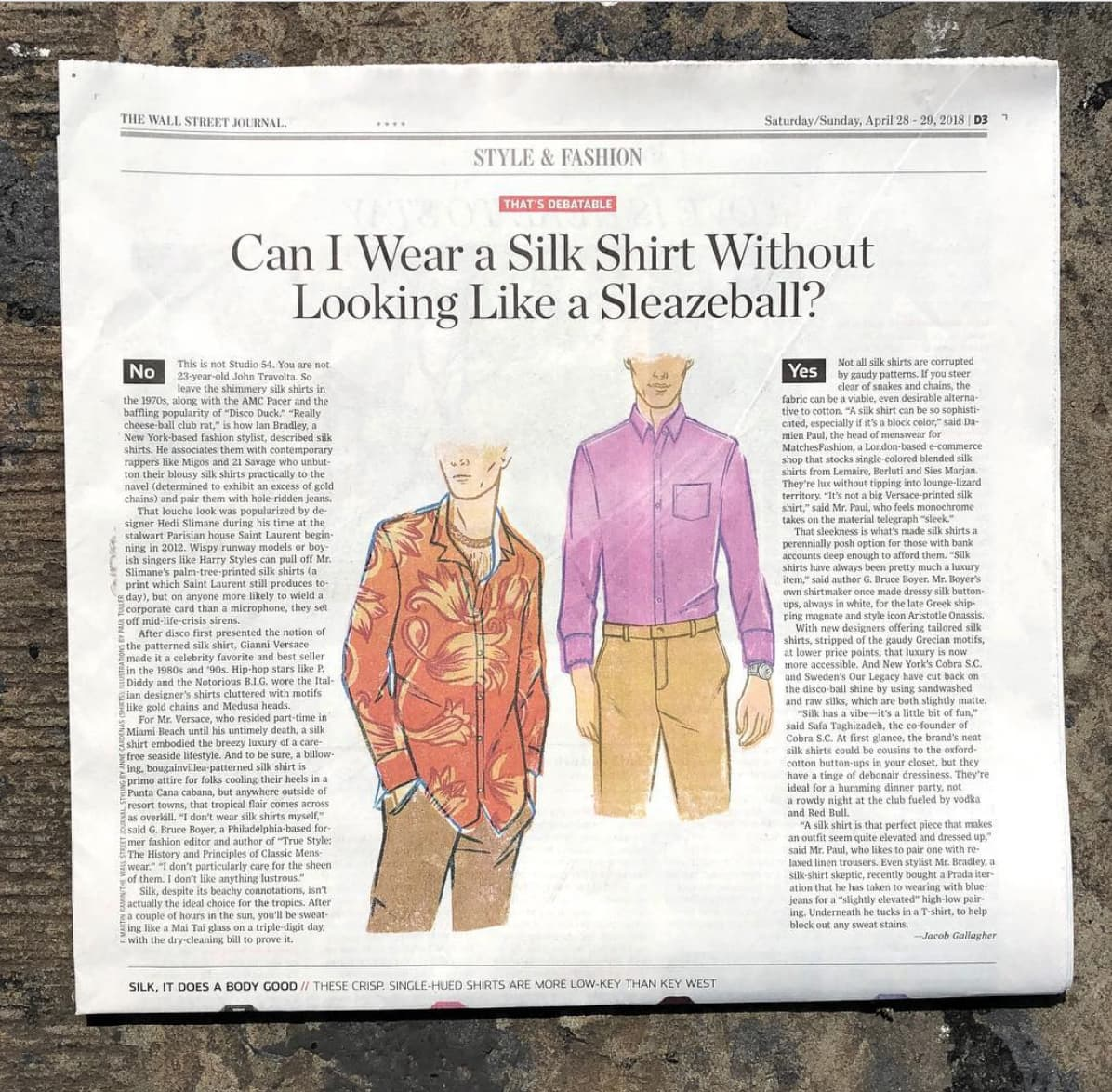 Wall Street Journal Style Section