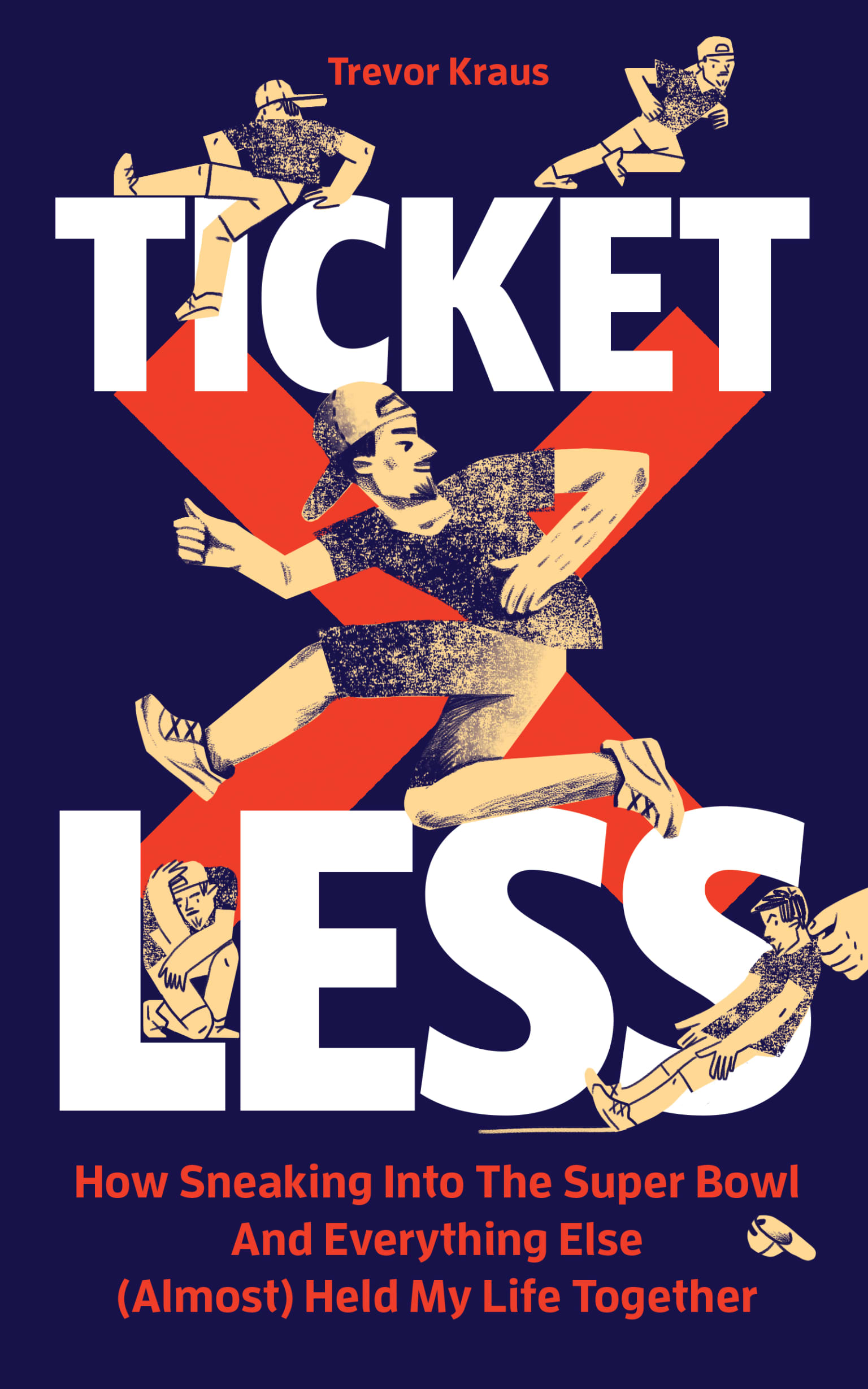 Book cover illustration for Ticketless
