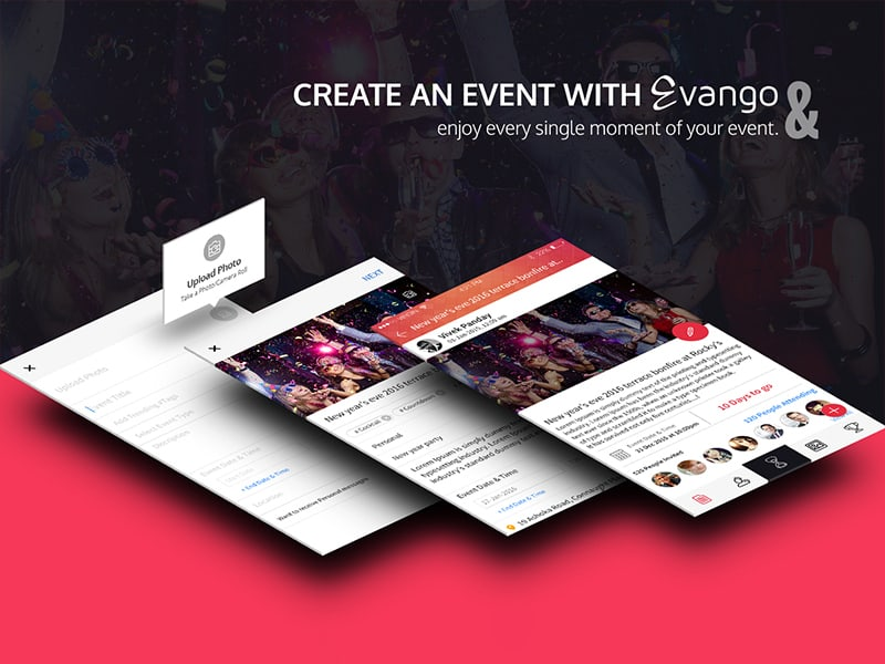 """Evango - Event App """"We take your fun seriously"""""""