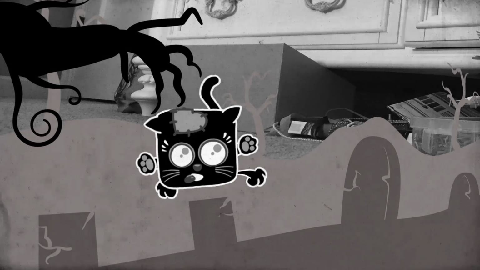 """Squaredy Cats Animated Short - """"Brains"""""""