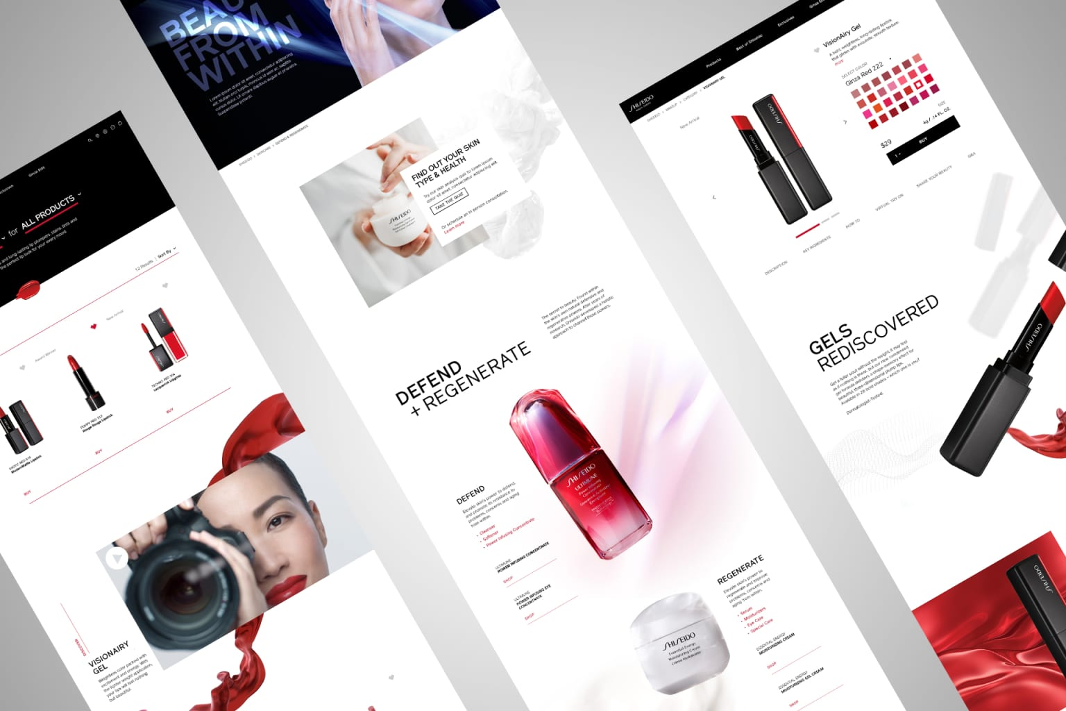 Shiseido Global Website Redesign