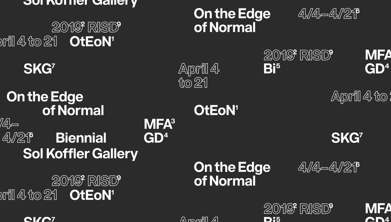 On the Edge of Normal: Visual identity and exhibition design