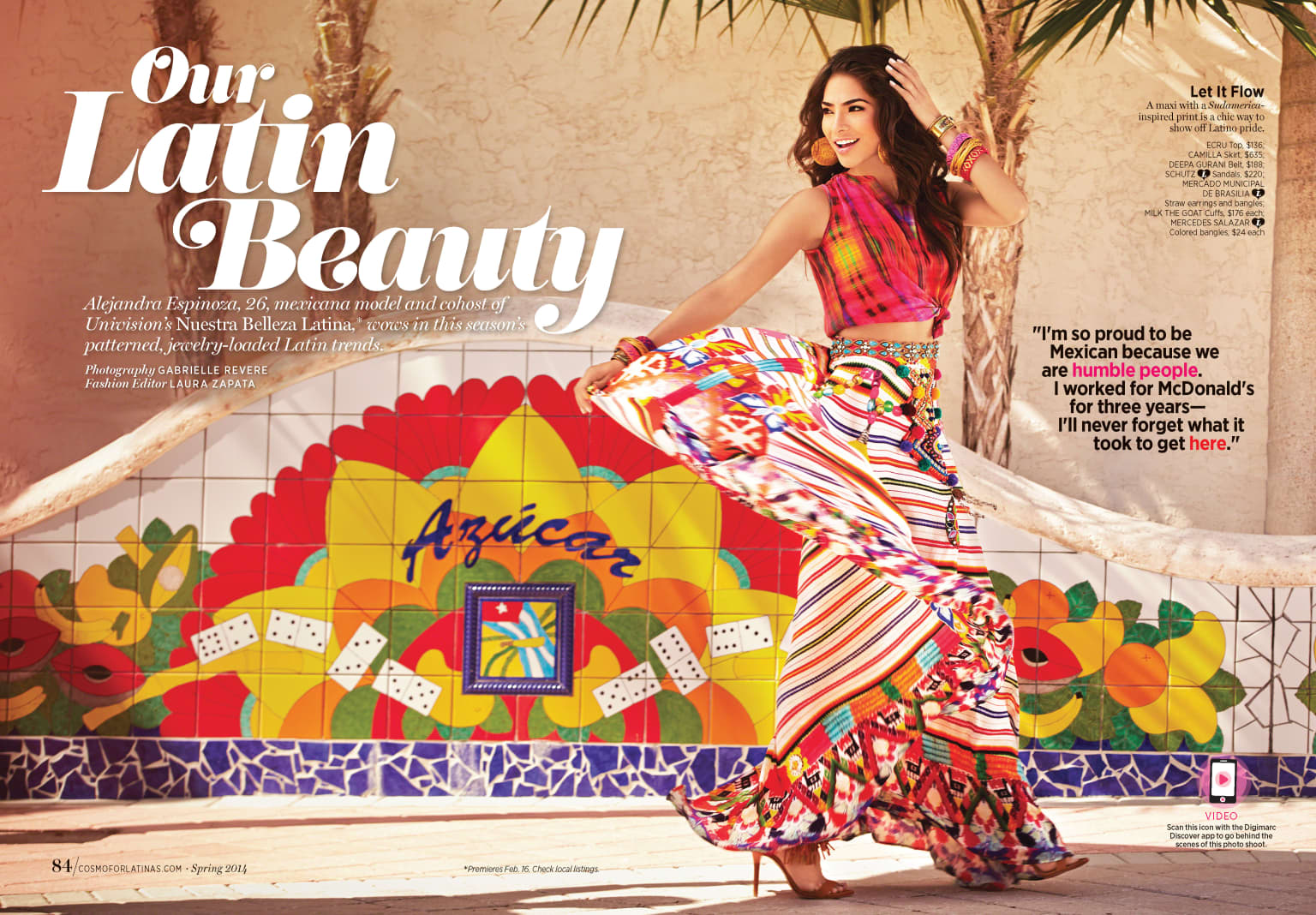 Cosmo for Latinas Fashion Feature Editorial