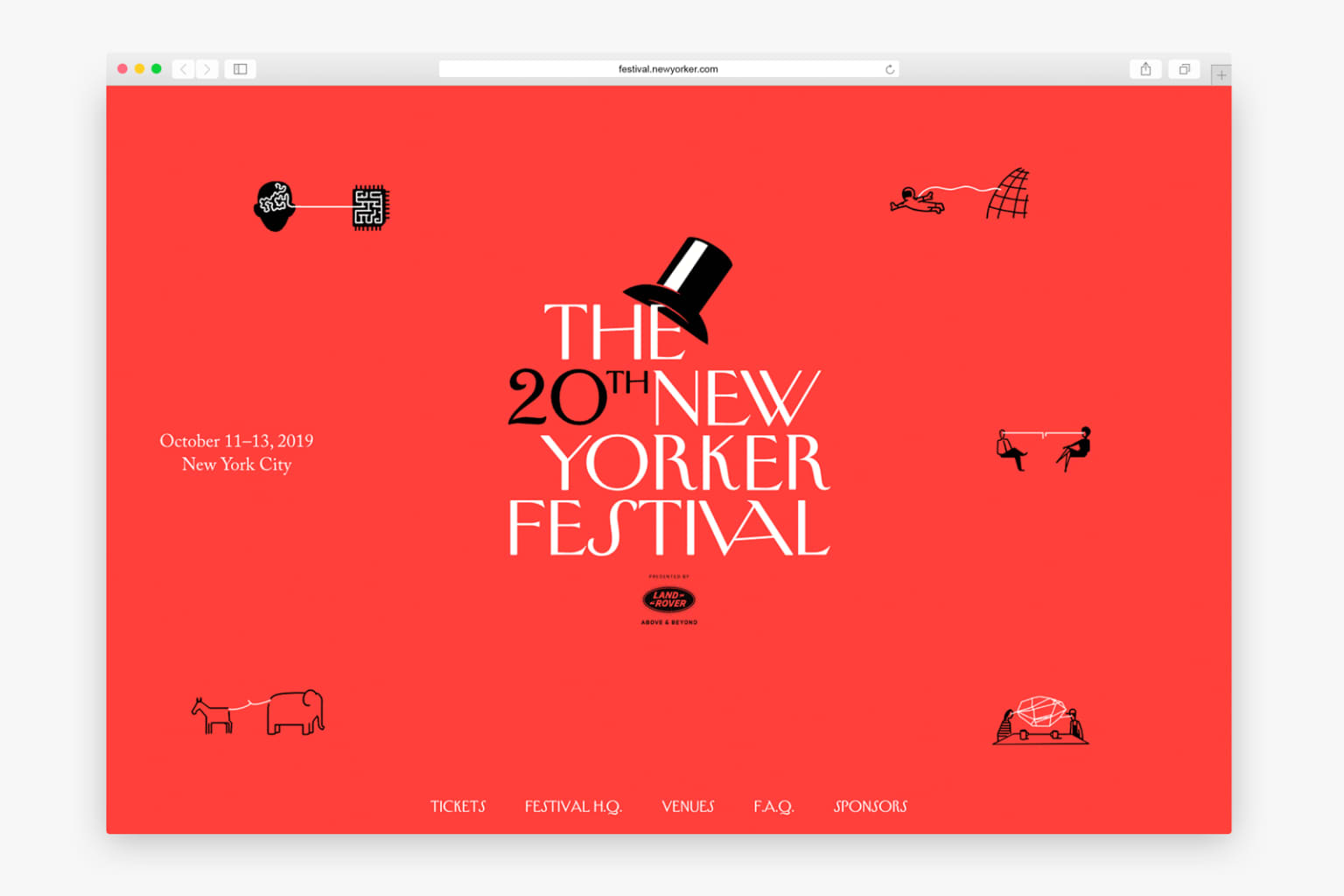 The 20th New Yorker Festival