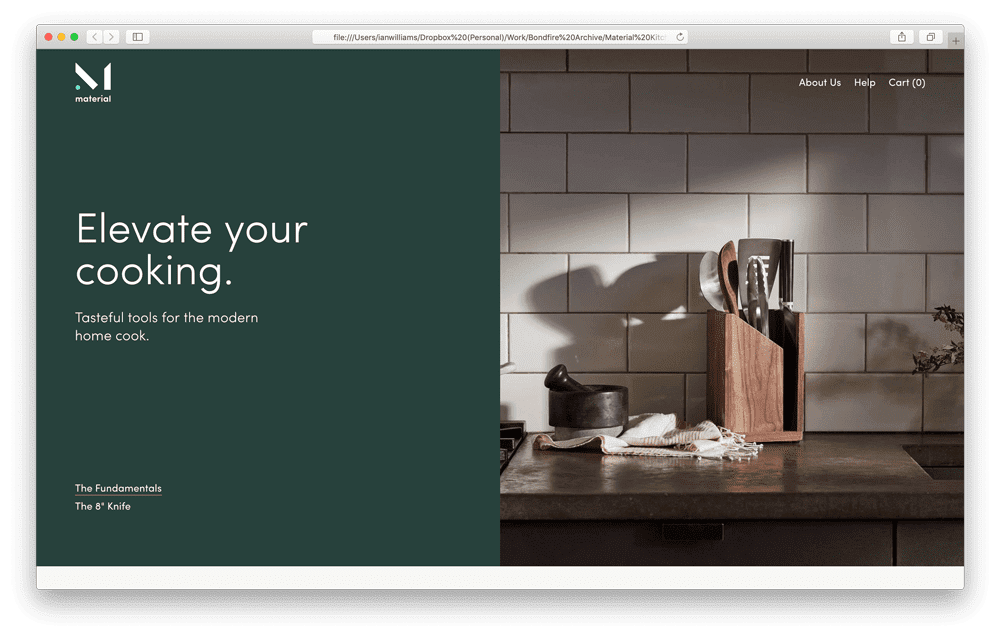 Material Kitchen Ecommerce