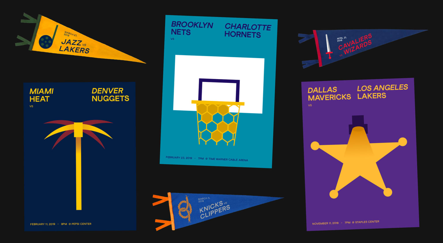 NBA Gameday Posters
