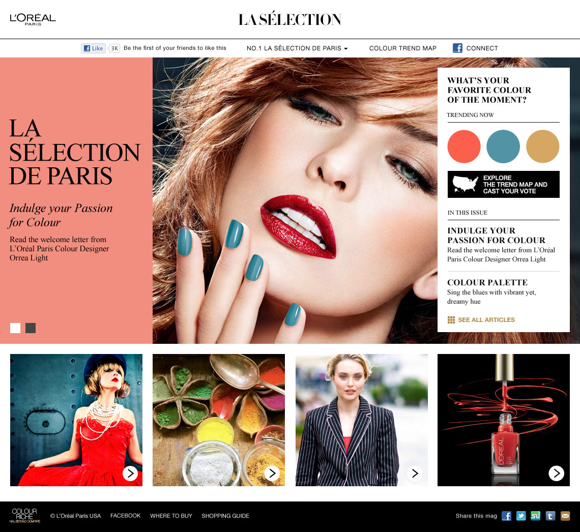 La Sélection: A branded magazine for Colour Riche Nail Polish