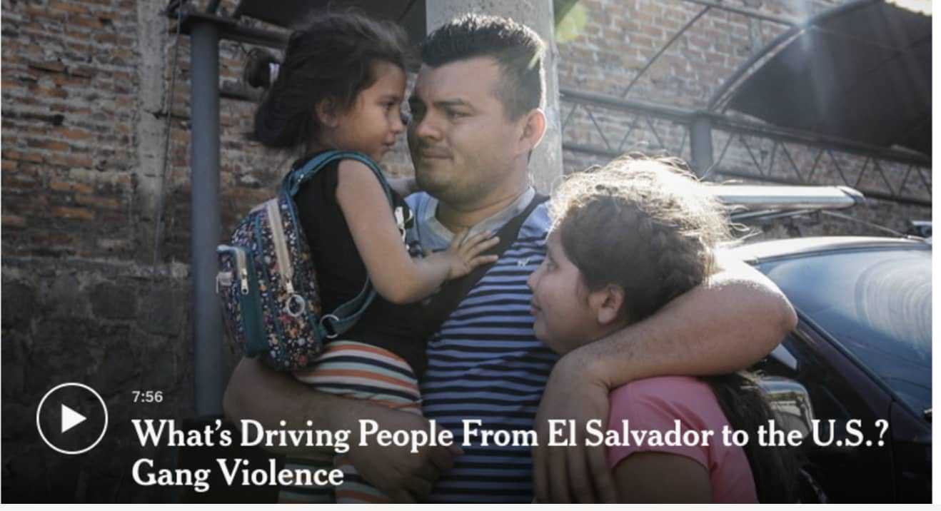 NEW YORK TIMES | What's Driving People From El Salvador
