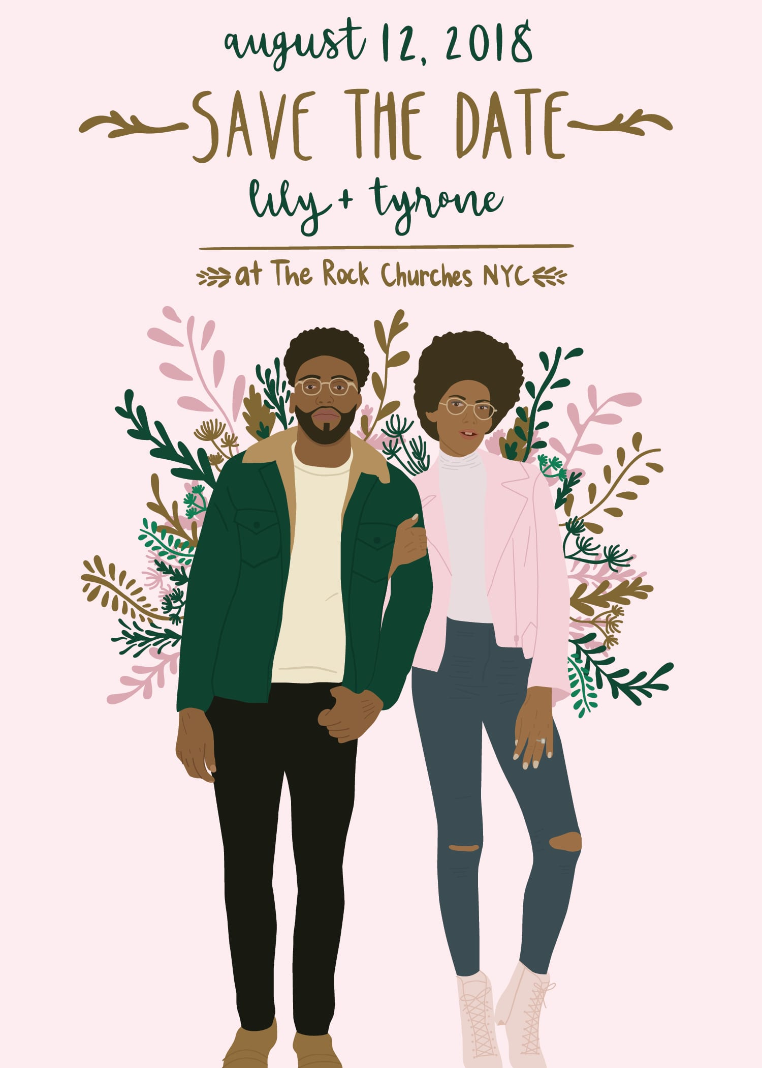 Lily's Save the Date Wedding Invites