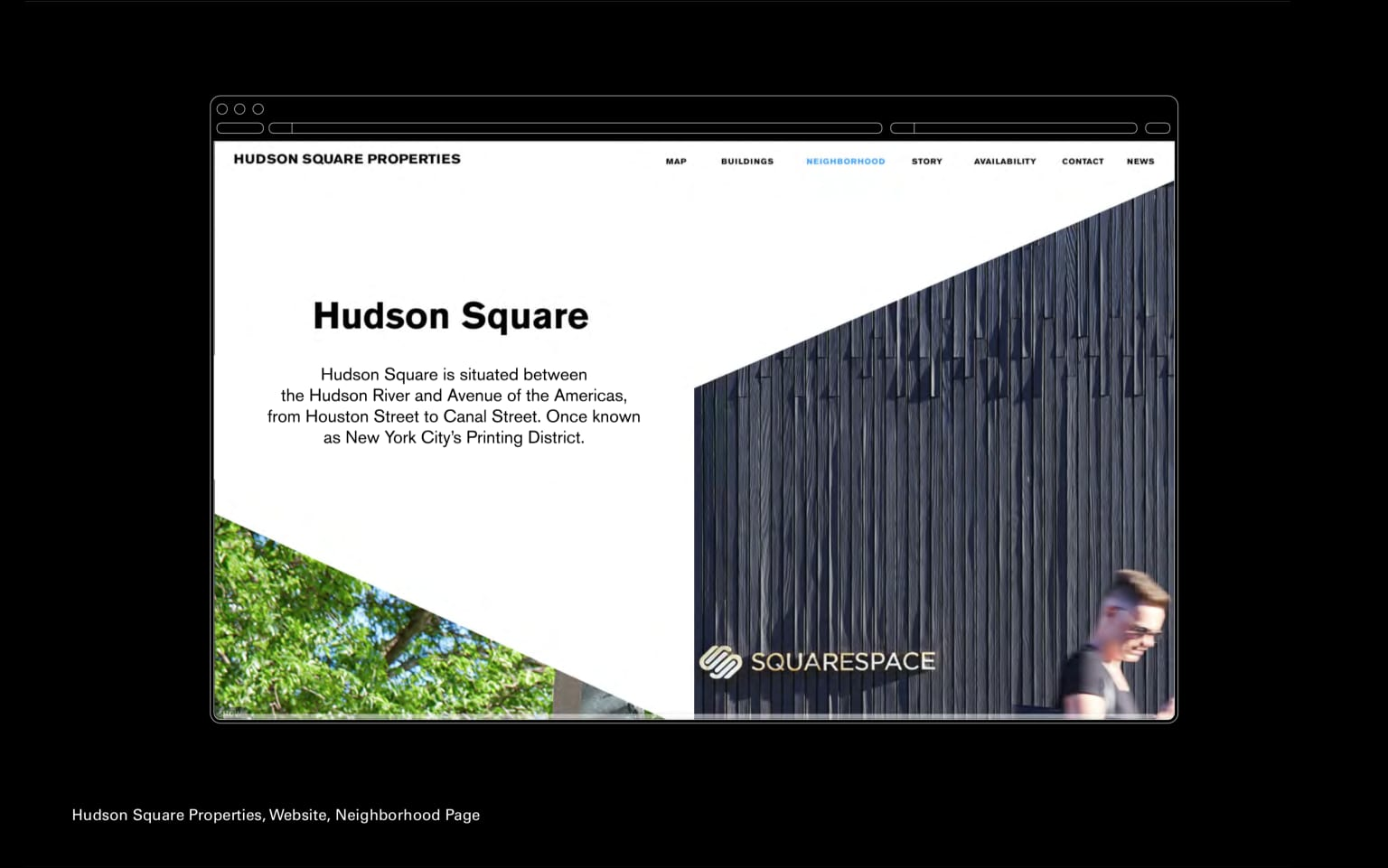 Hudson Square Properties, Website
