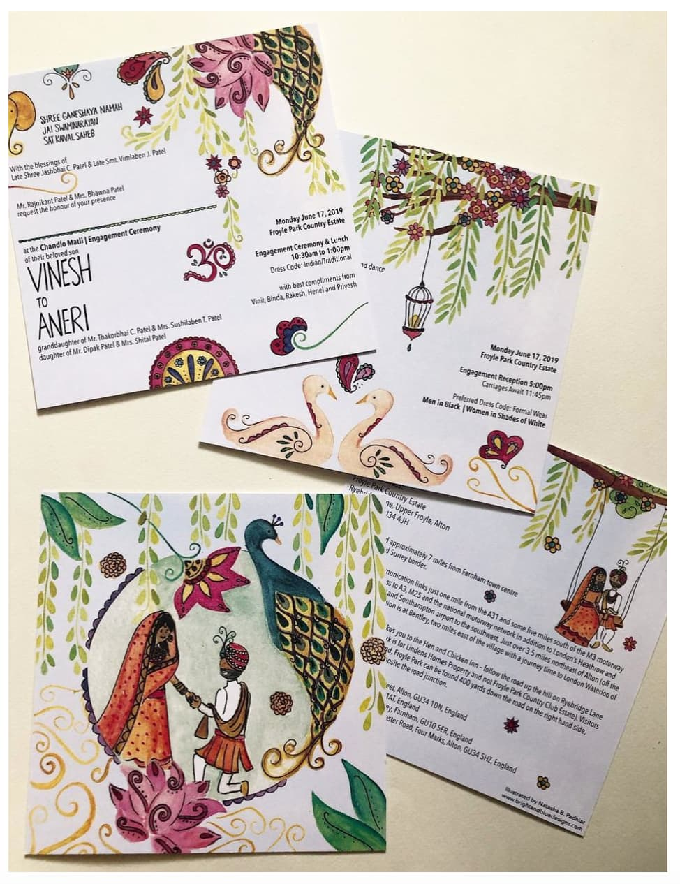 South Asian Engagement Ceremony Invitations