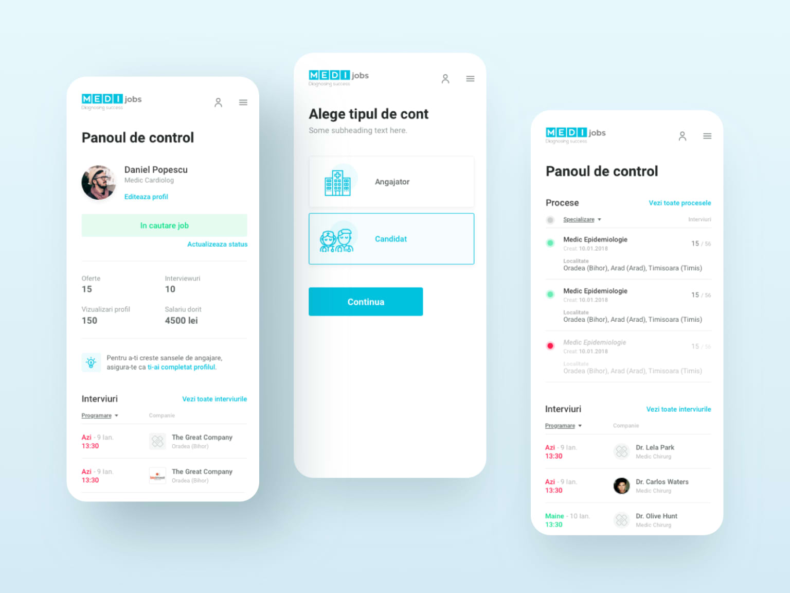 MEDIJobs – Redesign and UX improvements of a healthcare recruitment platform