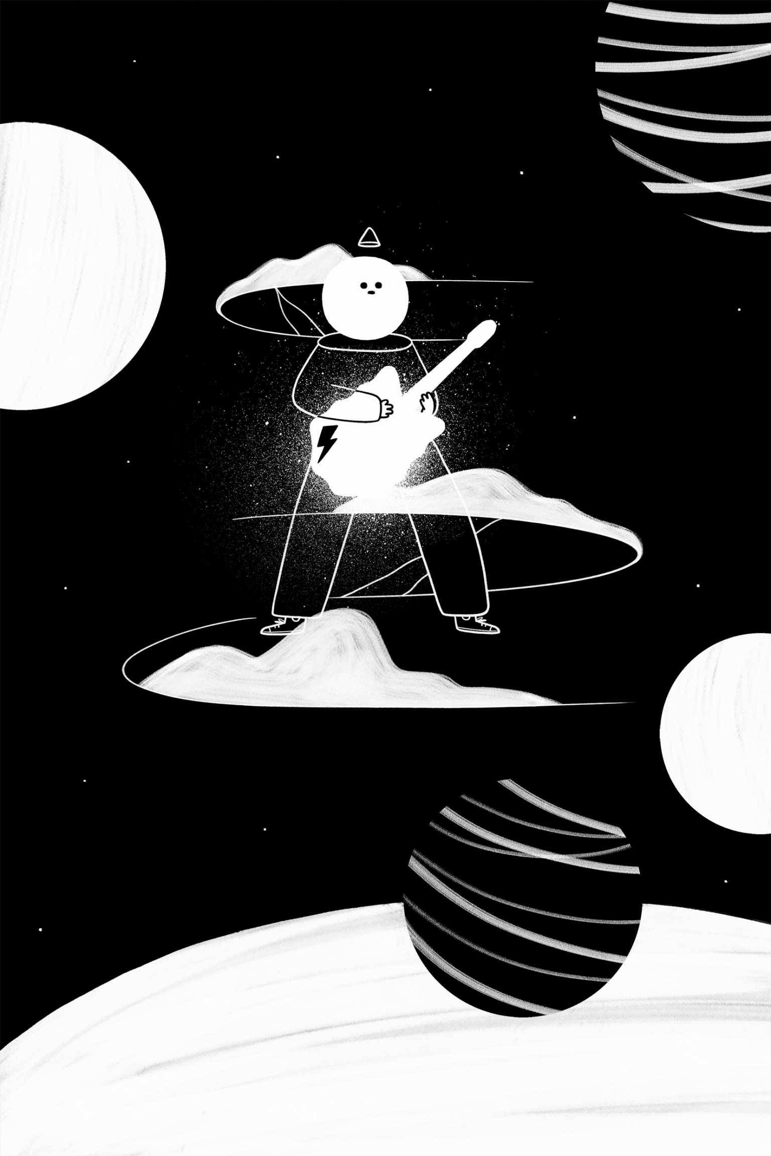 Illustration for a story based on David Bowie for Marvin magazine
