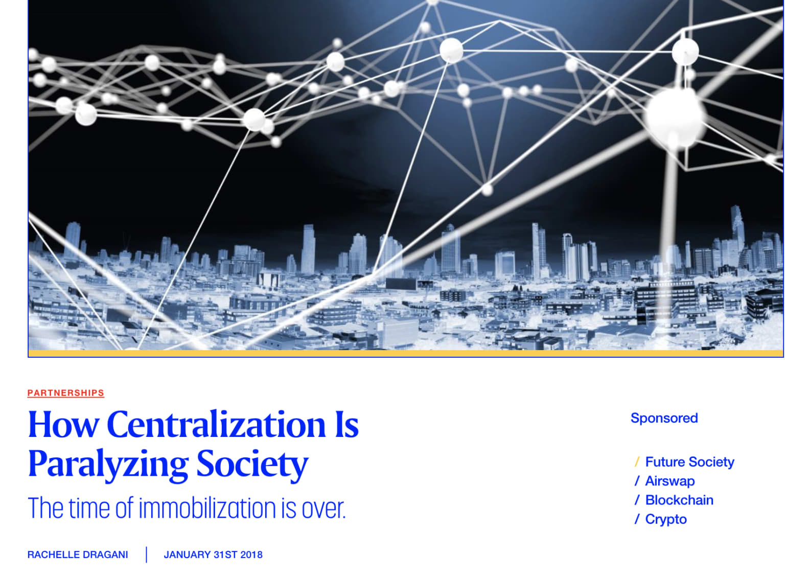 How Centralization is Paralyzing Society