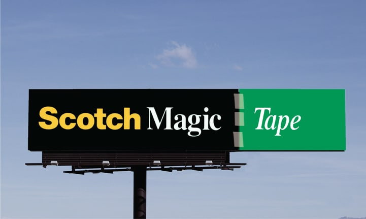 Scotch Tape Billboard