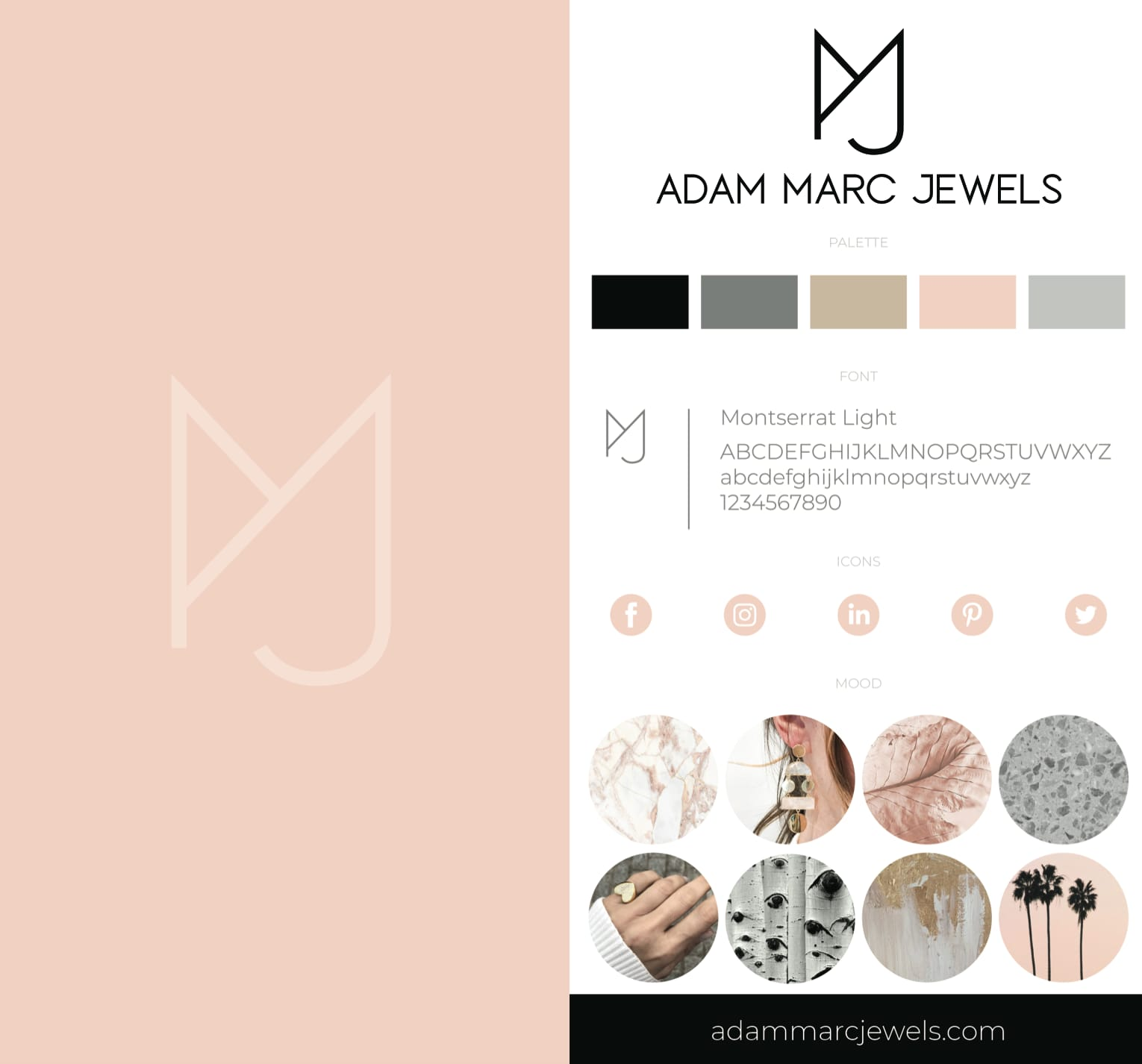 Adam Marc Jewels Branding Sheet