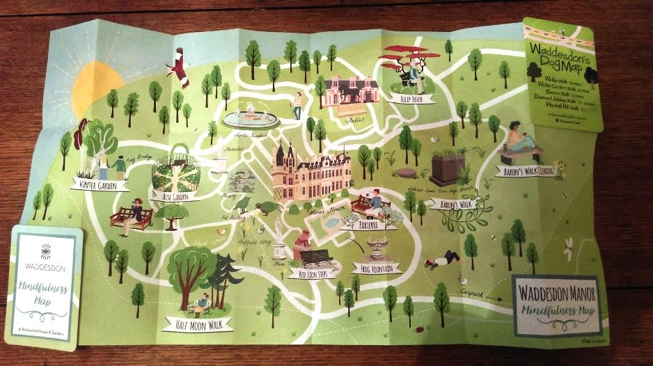 Visitor Mindfulness Map for Waddesdon Manor NT