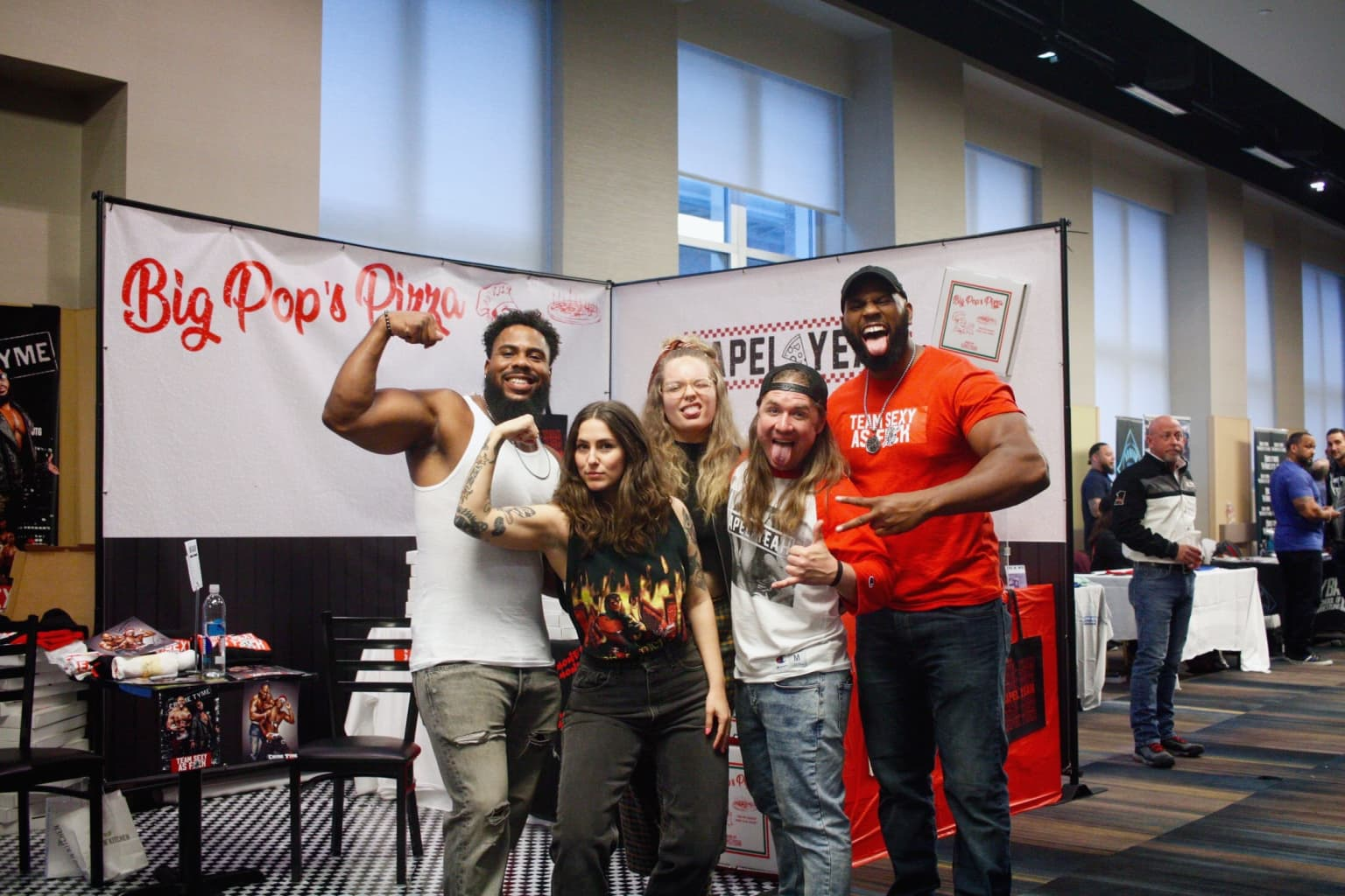 "Lapel Yeah ""Big Pop's Pizza"" Wrestlecon Merch Booth, Wrestlemania NYC 2019"