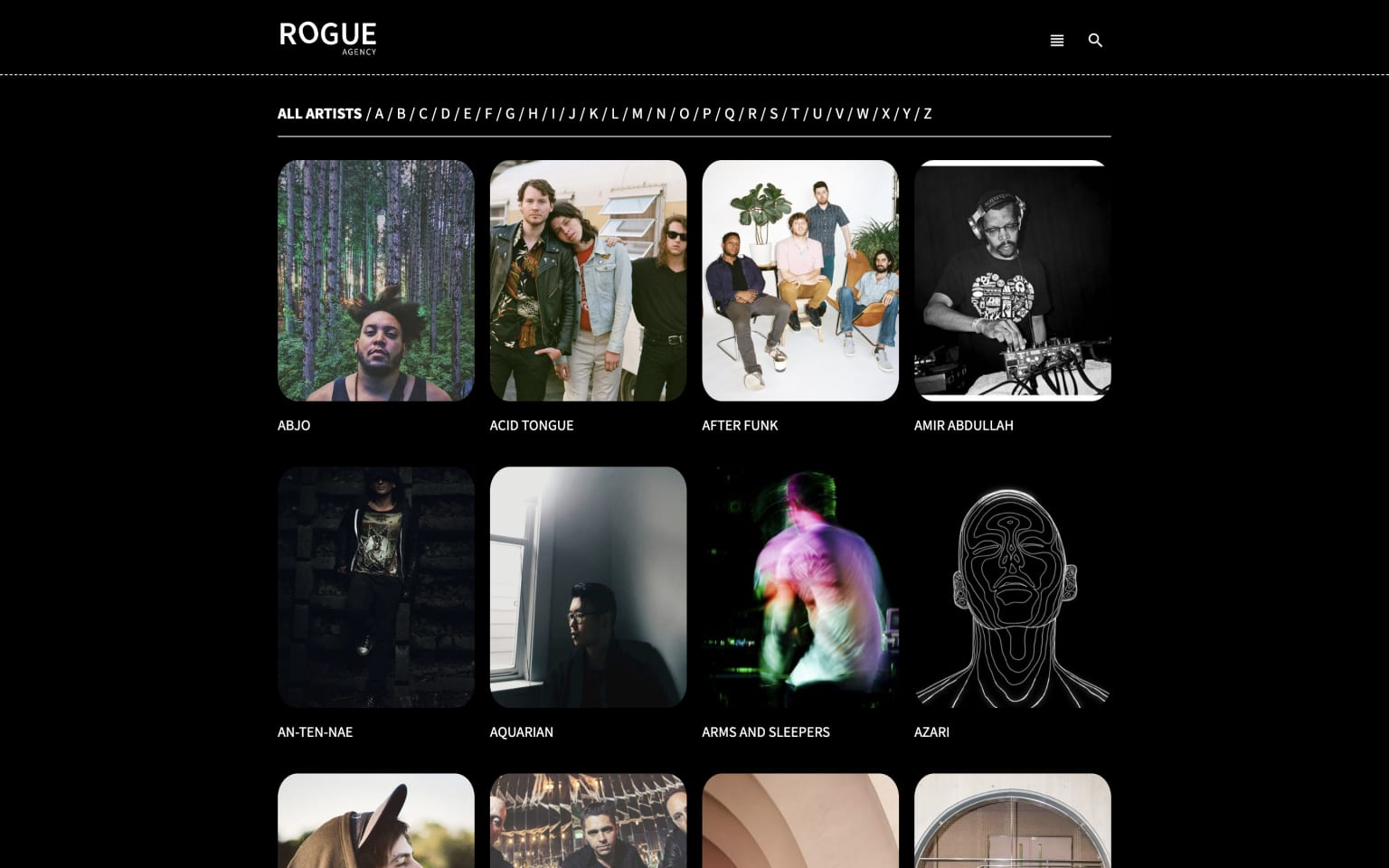 A simple website for Rogue Agency
