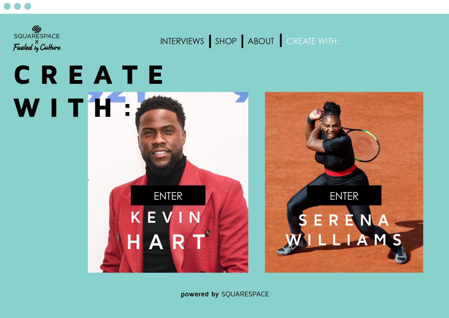 """""""Create With"""" Squarespace x Fueled by Culture"""