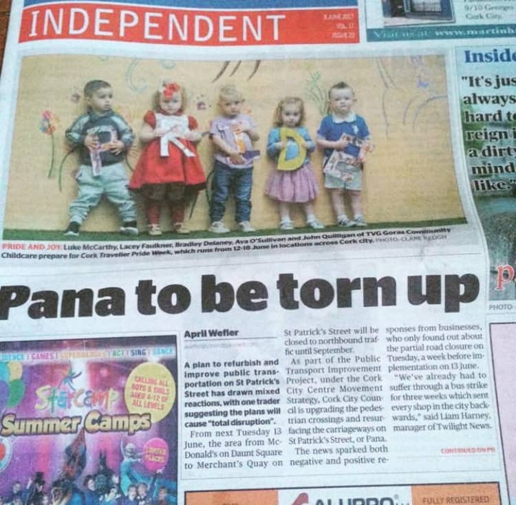 Front-Page News Story on Pana