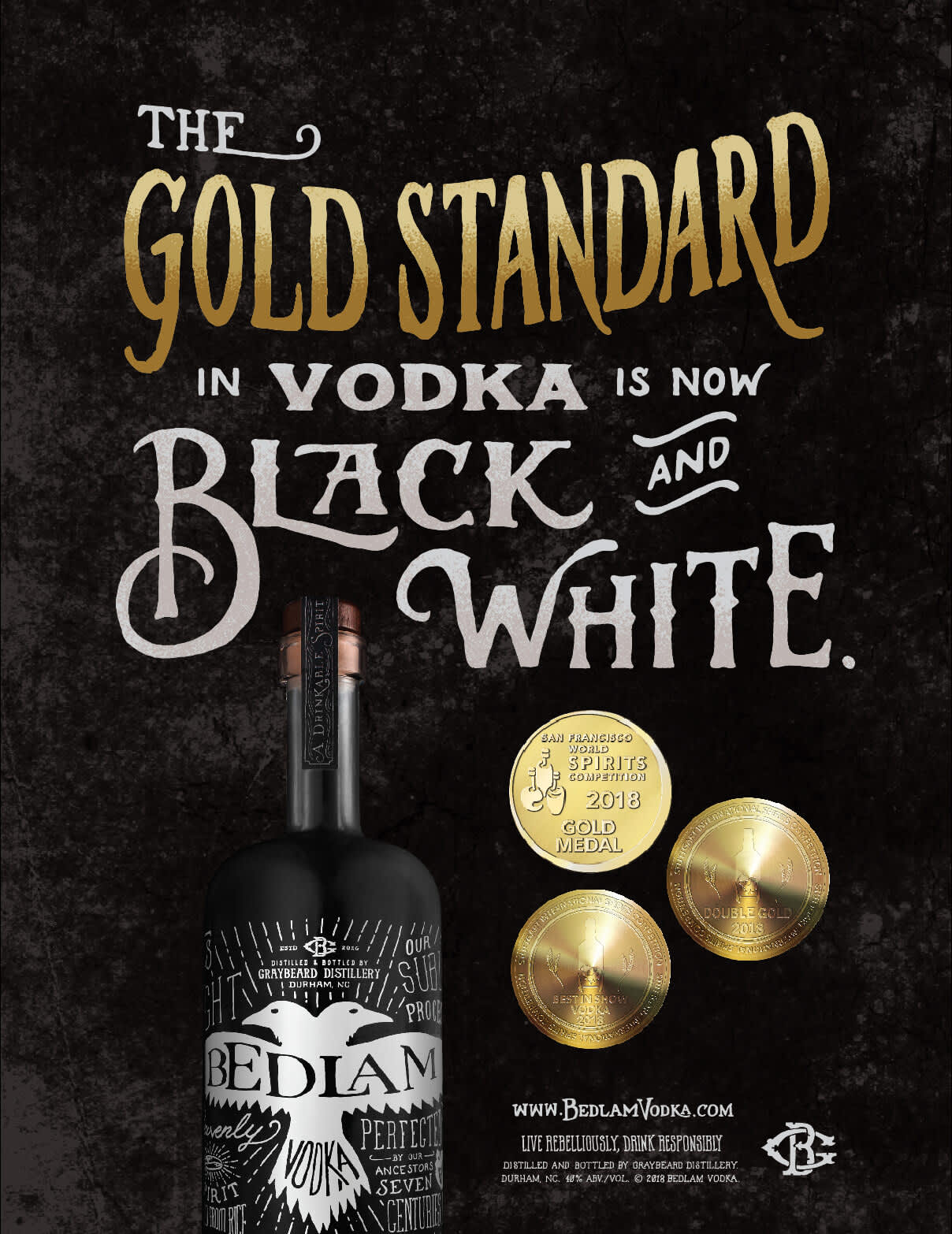 Bedlam Vodka advertising