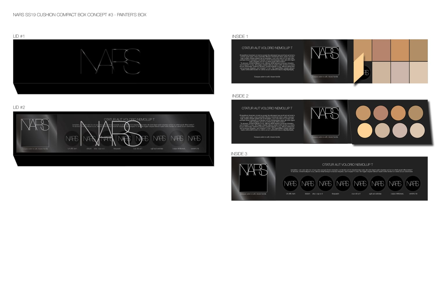 NARS 3D Influencer Kit Concepting