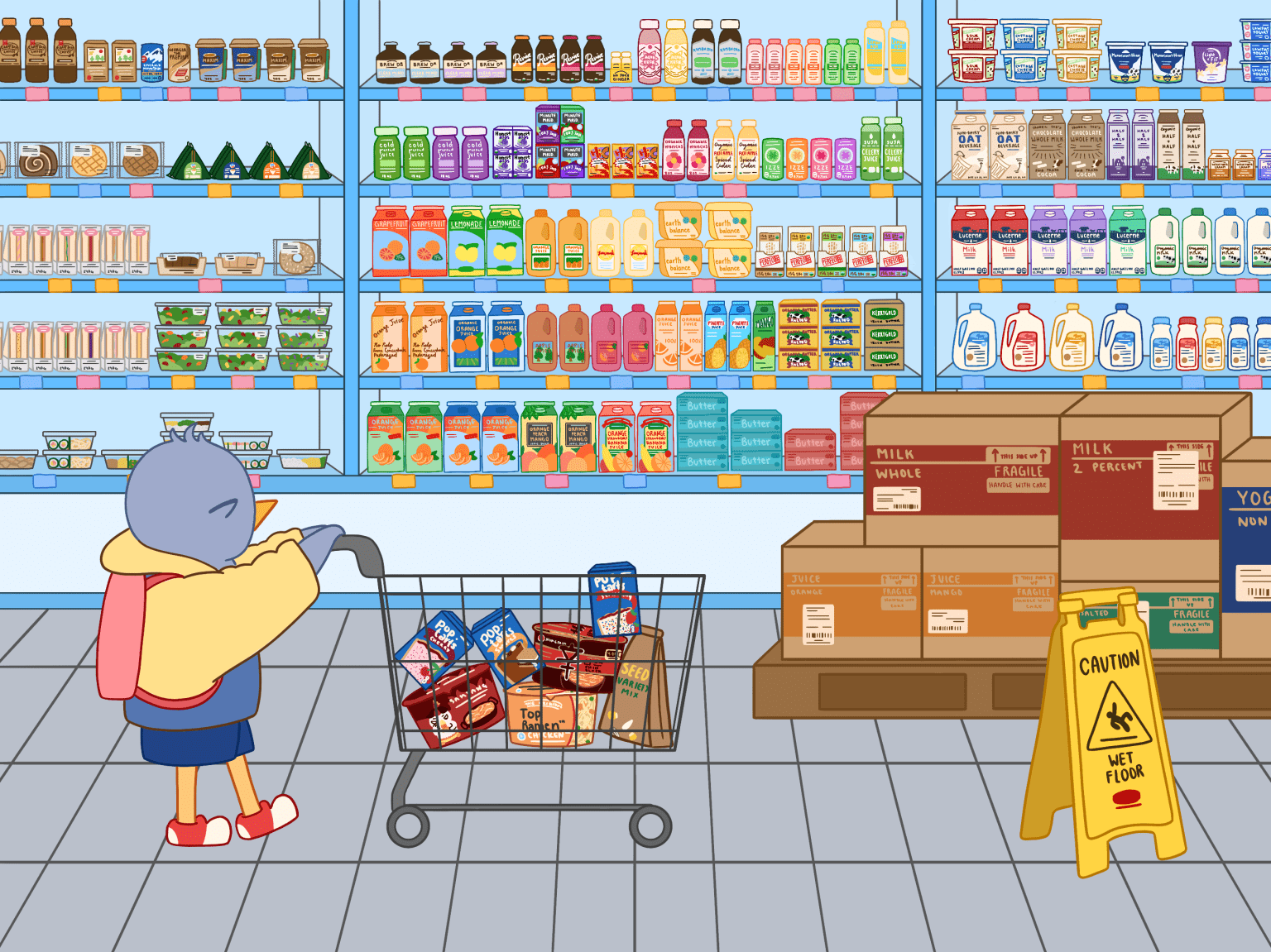 College Student Goes Shopping