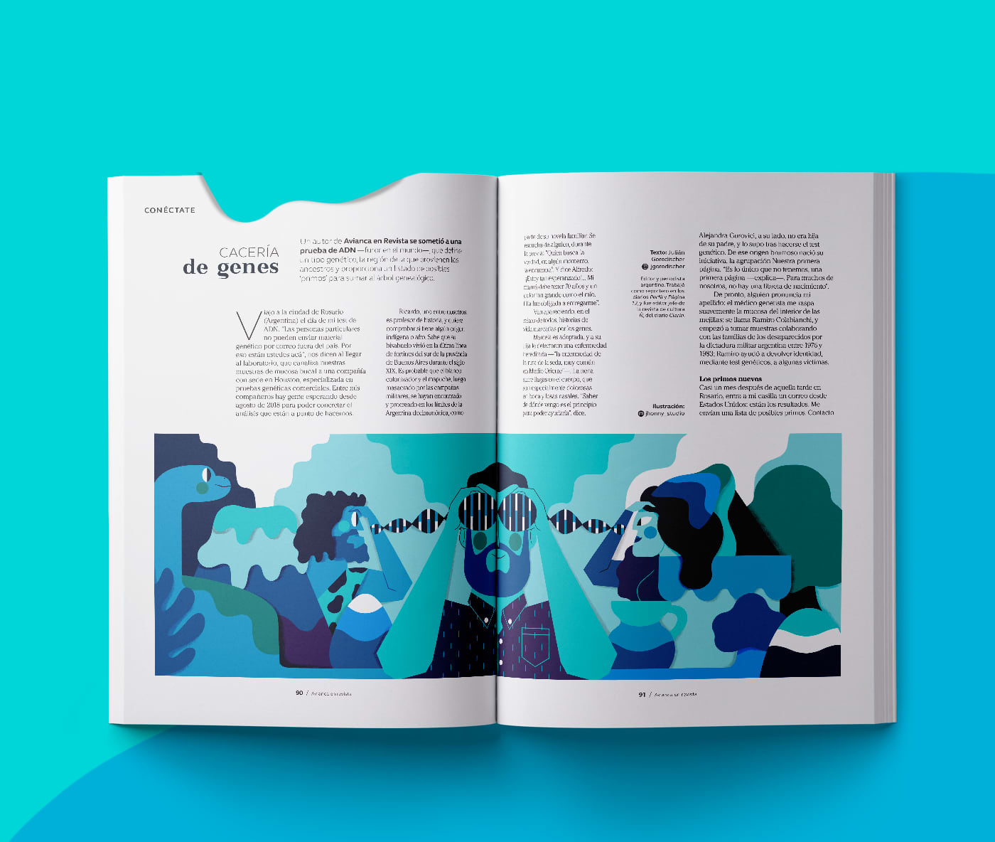 AVIANCA MAGAZINE - Editorial illustration