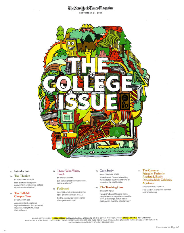 "New York Times Magazine ""College Issue"""