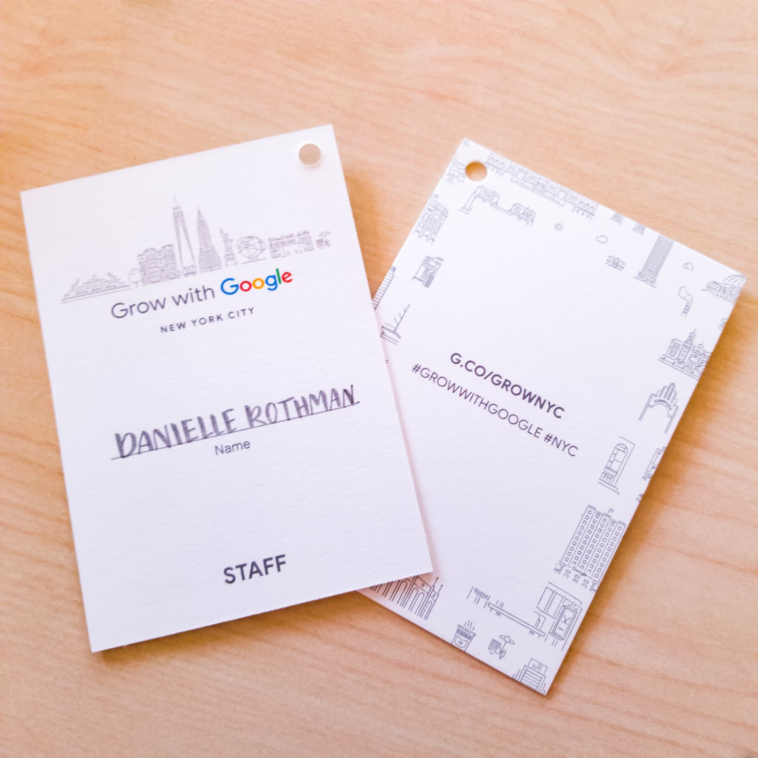 Grow with Google Launch Event Name Badges
