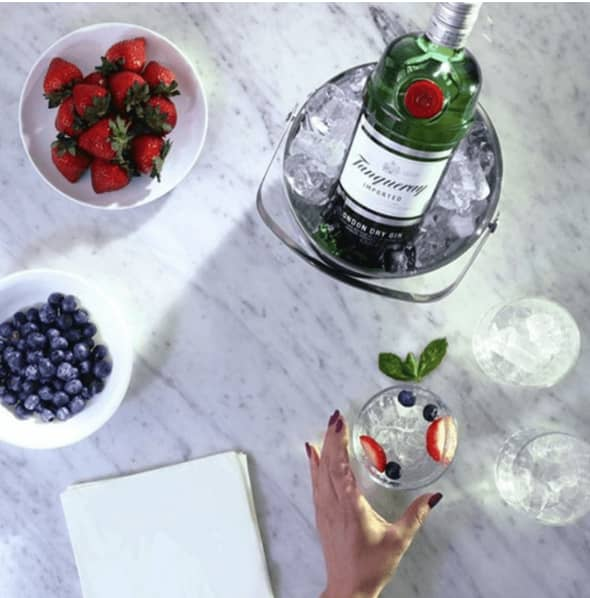 Tanqueray Event Website art direction & UX