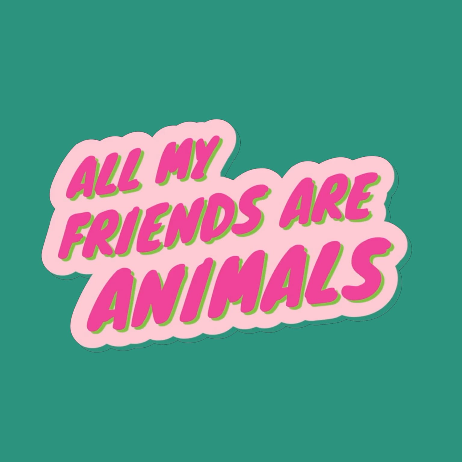 All My Friends are Animals Logo + Stop Motion