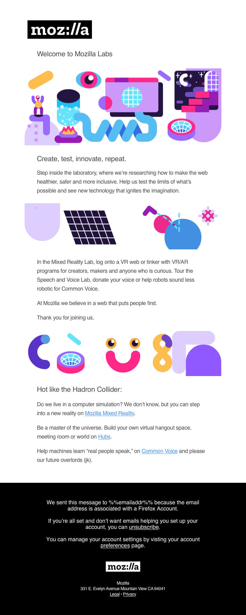 Mozilla Labs Email Campaign