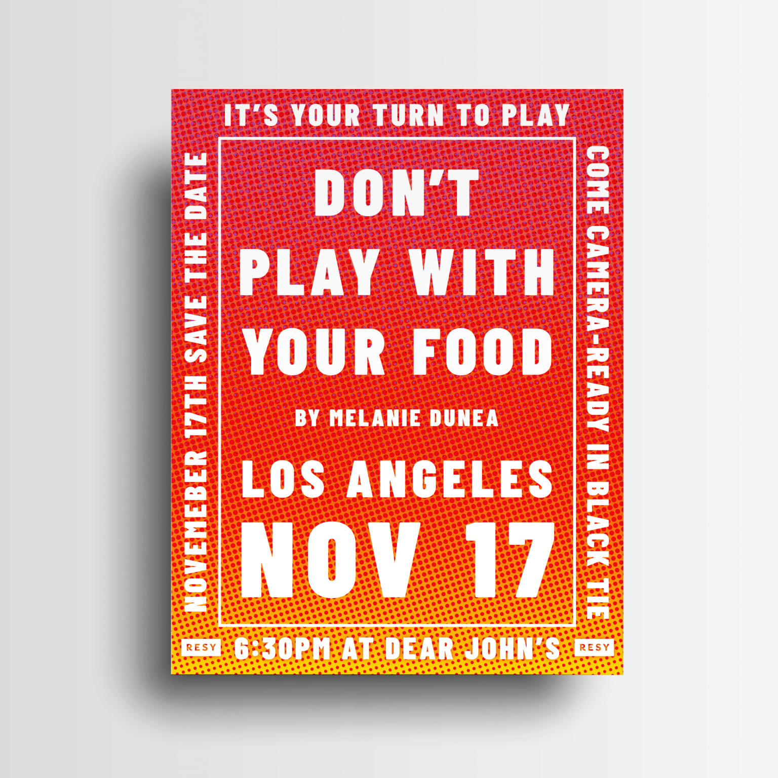 Don't Play With Your Food - branding and exhibition design