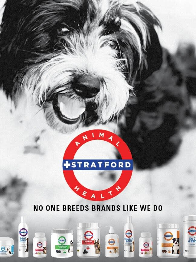 Stratford Animal Health Rebrand/Catalog Design
