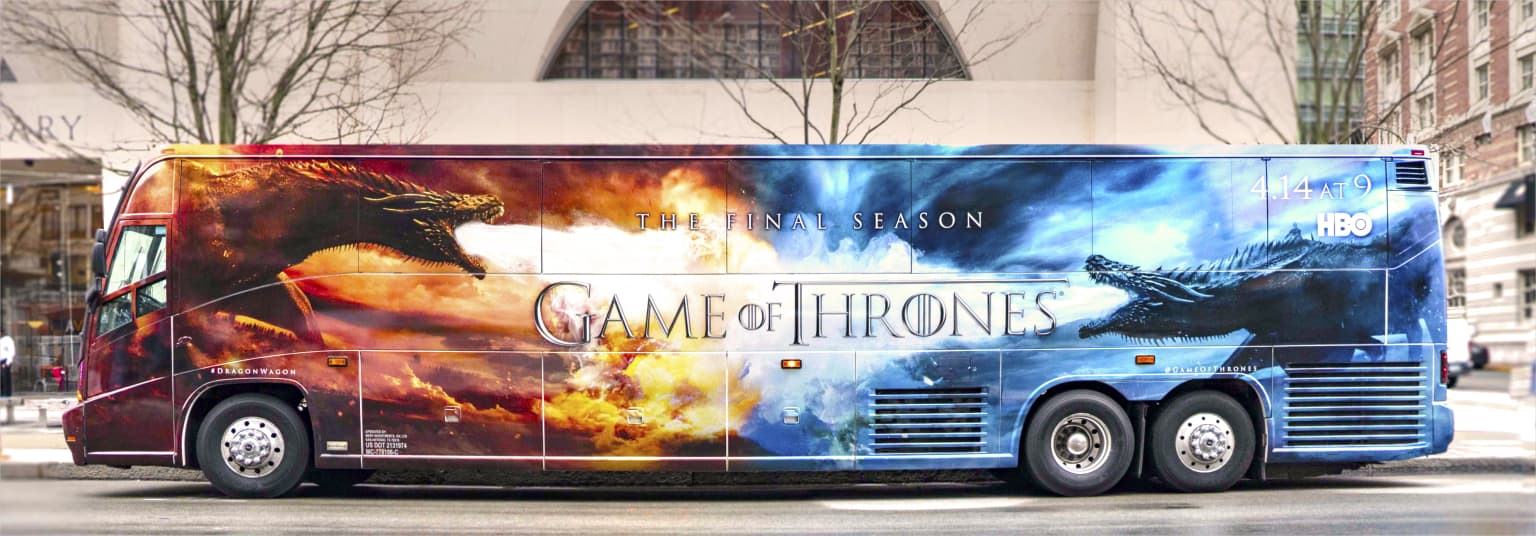 Game of Thrones Bus Wrap