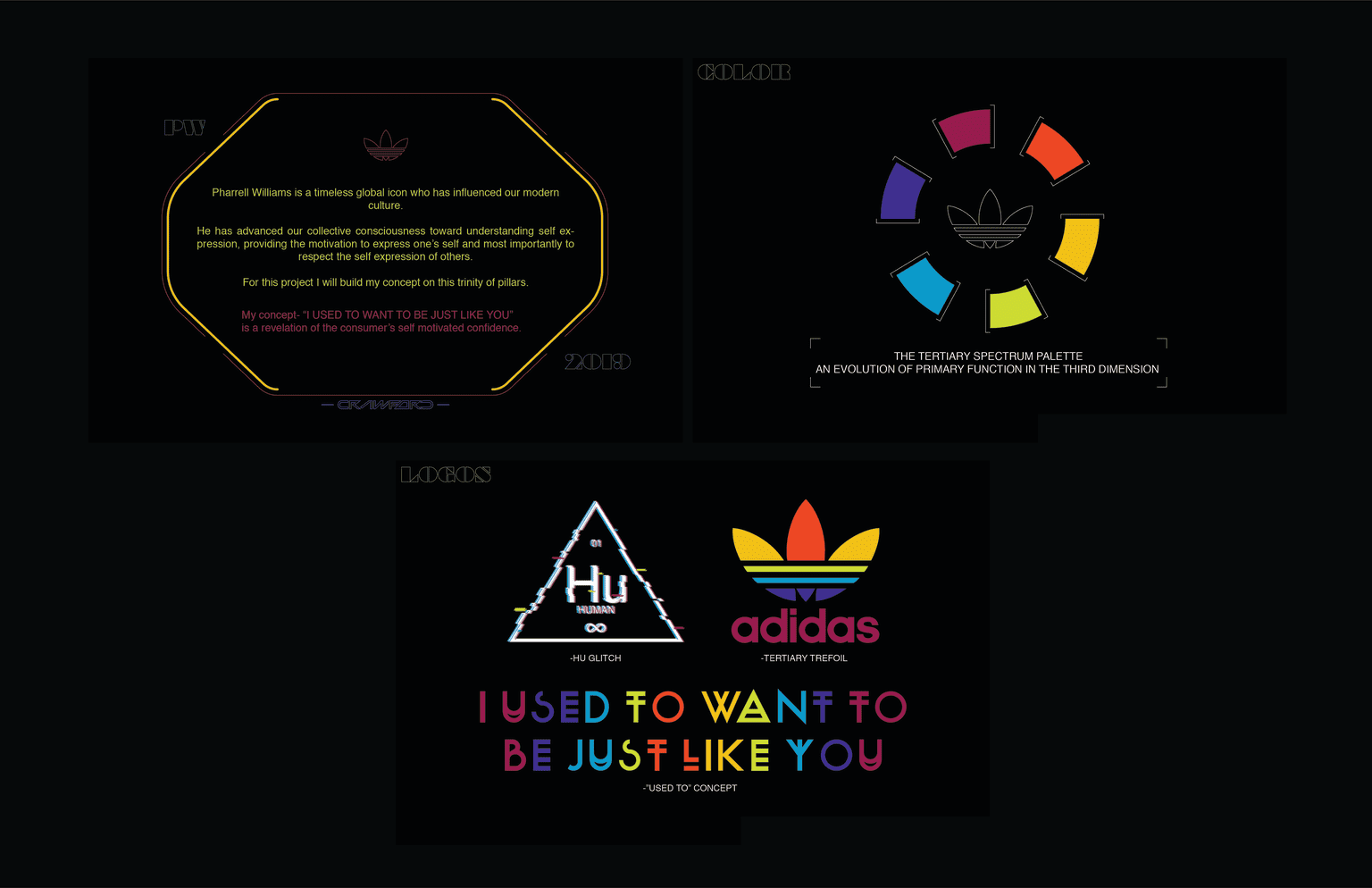 "ADIDAS PHARRELL ""I USED TO WANT TO BE JUST LIKE YOU"""