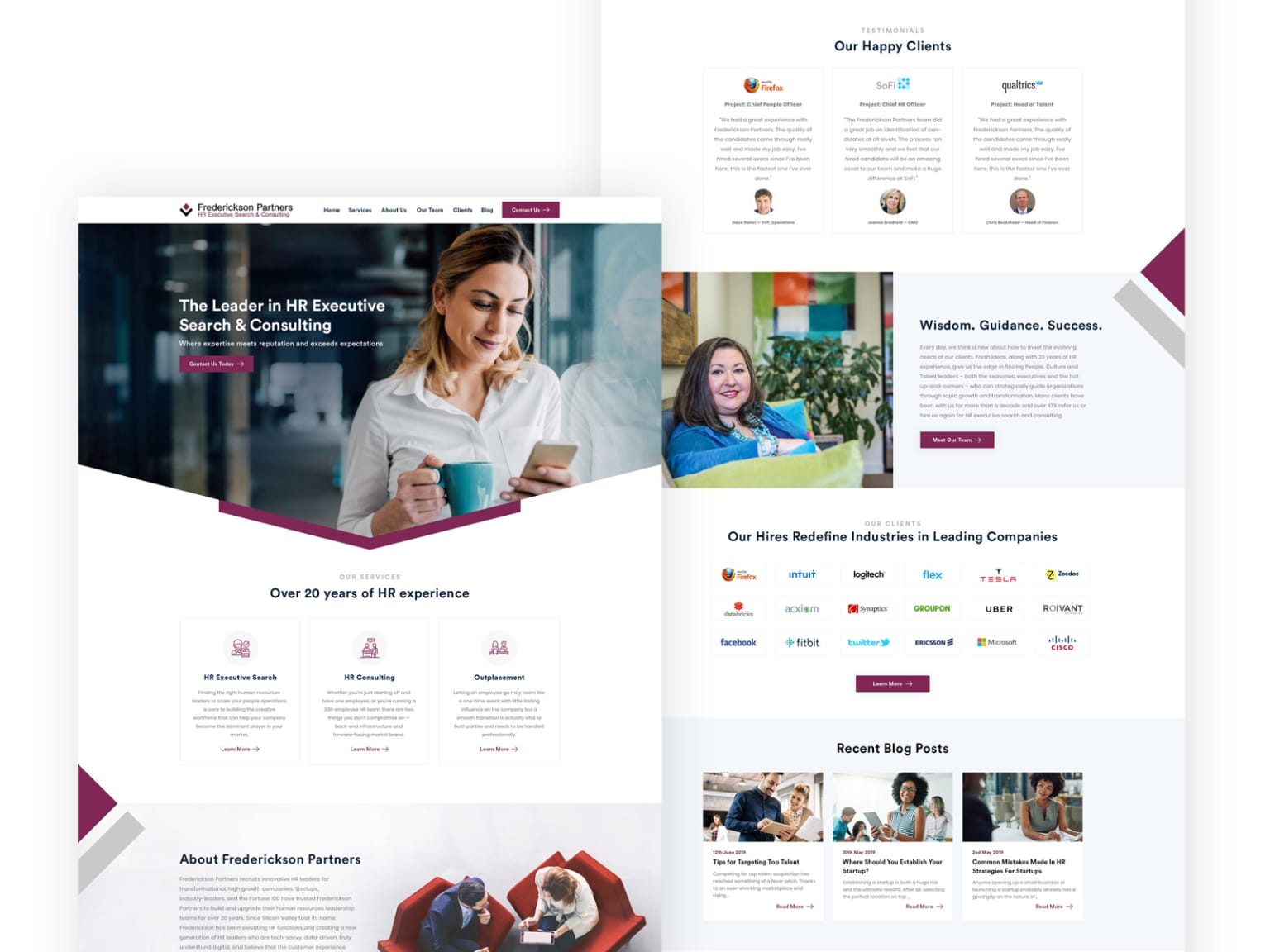 Website for HR Consulting