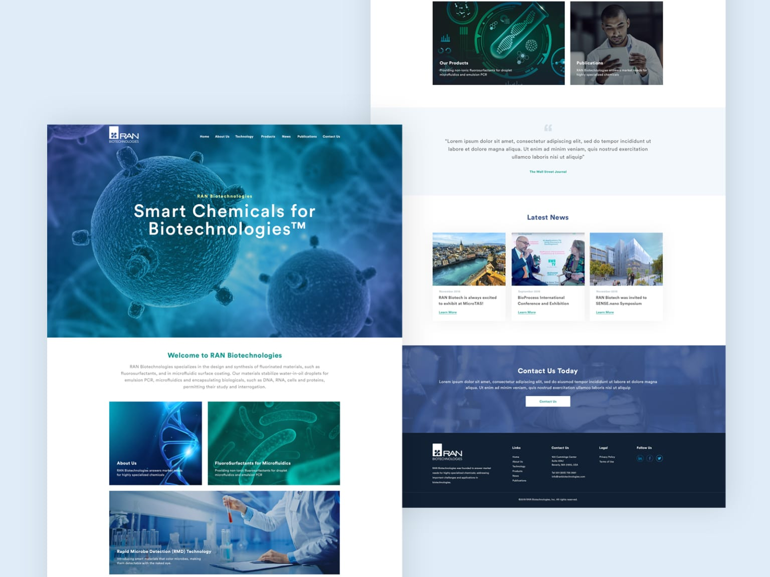 Website for a Chemical Company