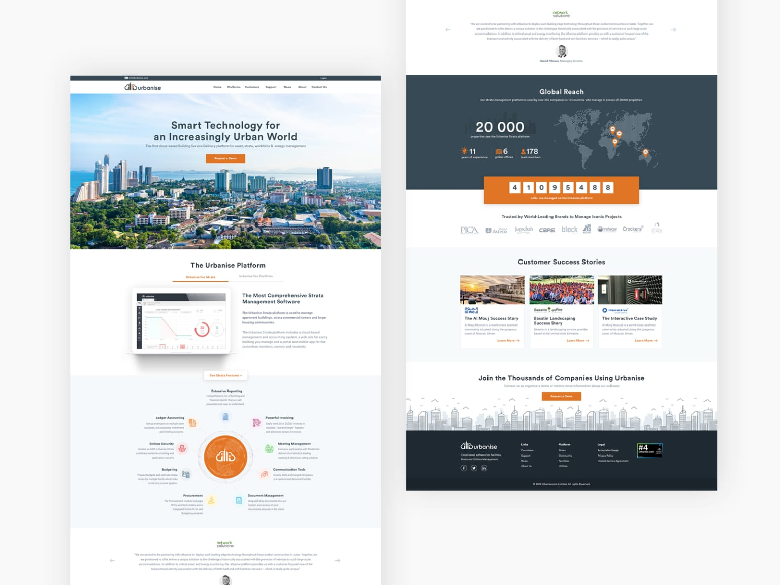 Website for a Technology Company