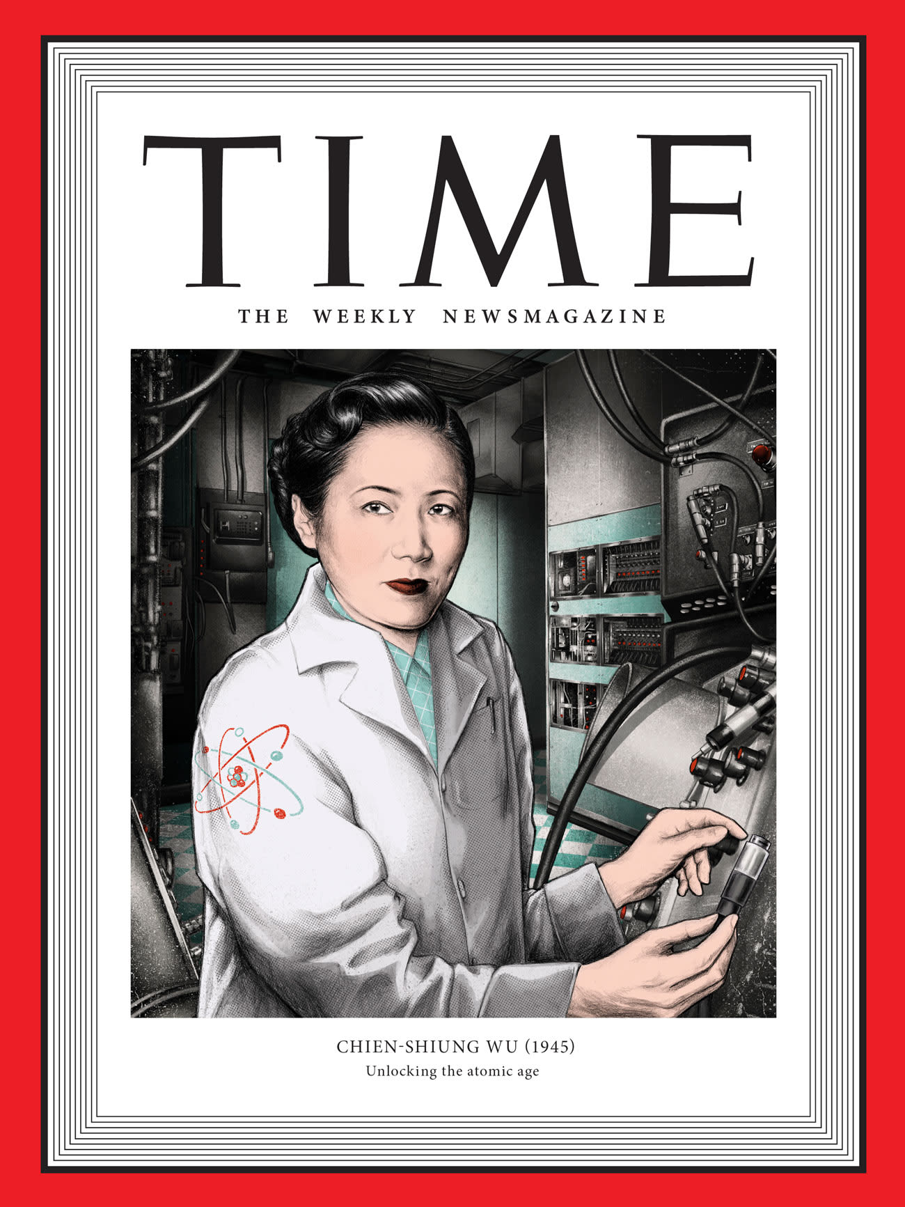 Chien-Shiung Wu Portrait Illustration for Time
