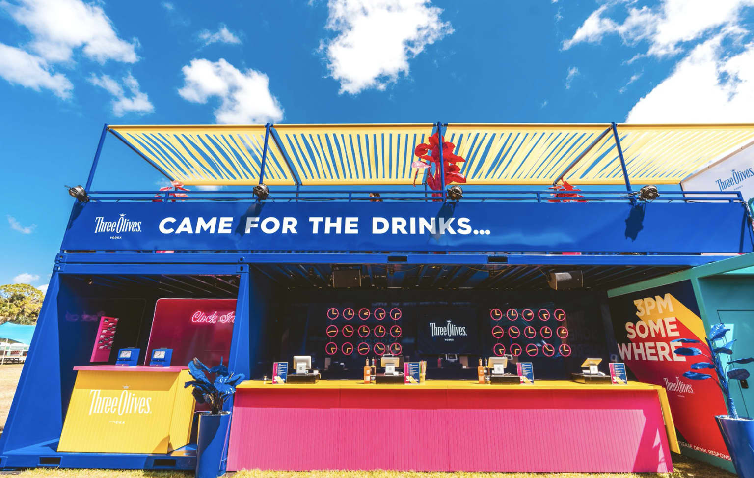 Three Olives Vodka | '3's a Party' Festival Activation