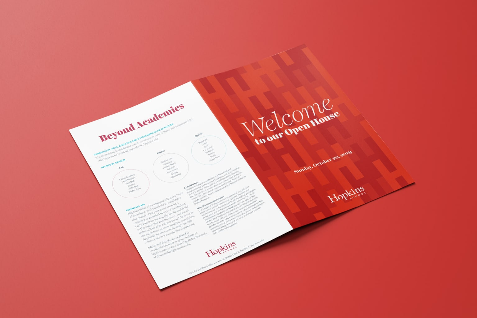 Hopkins School — Open House Collateral