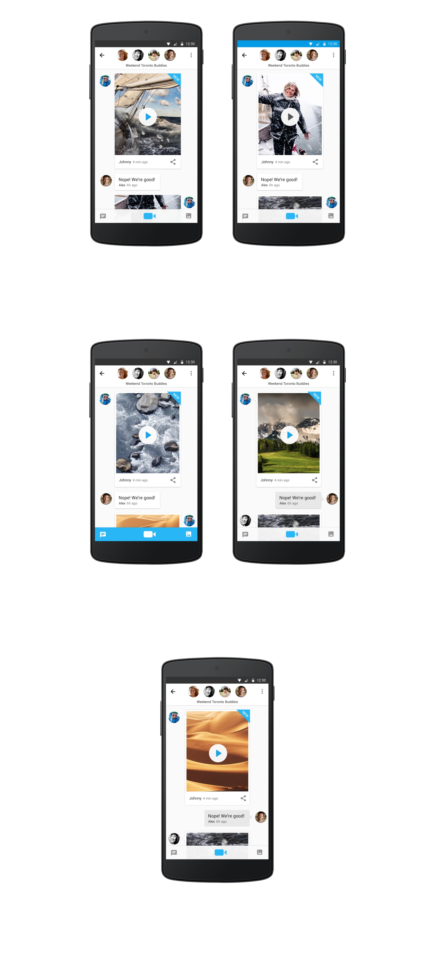 """""""Glide"""" Video Messenger — Android App Redesign"""