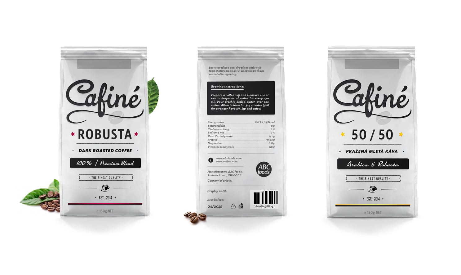 Cafiné — Coffee Packaging Design